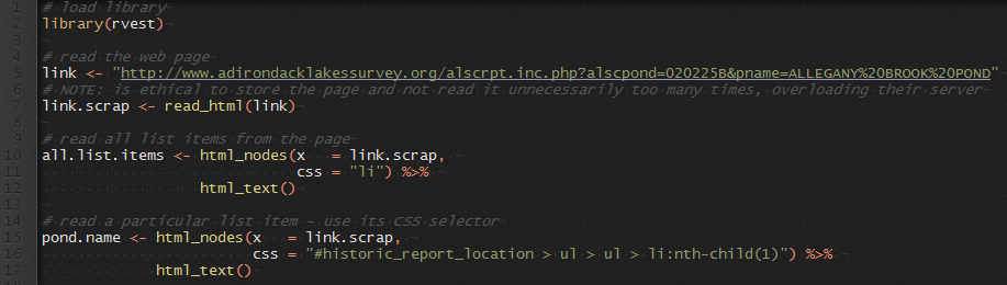 R: intro to scraping web data – See the data
